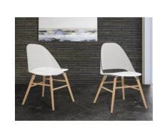 Sedia bianca trasparente - Sedia da giardino - Sedia in plastica - Sedia da pranzo di design - MILFORD