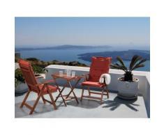 Set da balcone - Tavolino e due sedie con cuscini color terracotta chiaro - TOSCANA