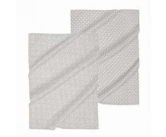 2 strofinacci grigi in cotone COOK & ENJOY
