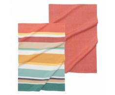 2 strofinacci a righe multicolore in cotone SANDIEGO