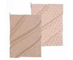 2 strofinacci rosa/beige in cotone MAGIX