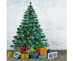 Albero di Natale artificiale sintetico CORTINA 210cm con luci led solari