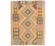 Tappeto Kilim Afghan Old style 100x133 Tappeto Orientale
