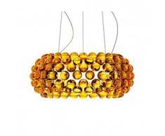 Foscarini lampada a sospensione CABOCHE MEDIA a LED (Giallo oro - Vetro soffiato e metallo cromato)