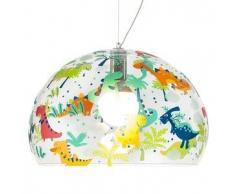KARTELL KIDS lampada a sospensione FL/Y fly per bambini (Trasparente / Dinosauro - PMMA trasparente)