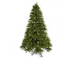 Albero di Natale 225 cm verde Poly memory shape luci Bluetooth