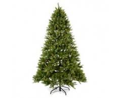 Albero di Natale 210 cm Poly verde memory shape luci Bluetooth