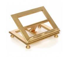 Leggio da tavolo in faggio foglia oro