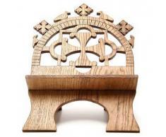 Leggio tavolo frassino scolpito Monaci Betlemme