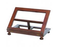 Leggio da tavolo legno noce 30x24 cm
