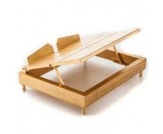 Leggio da tavolo in ottone dorato