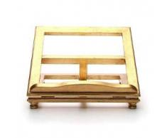 Leggio da tavolo legno foglia oro