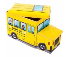 BIECO Scatola Portagiochi e Panca - Schoolbus