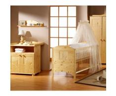 SCHARDT Set Cameretta neonato Dream con Lettino, Fasciatoio e Armadio