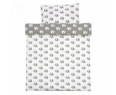 Alvi Set biancheria da lettino Bellybutton Special Edition Elephants white 100 x 135 cm grau