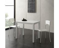 Tavolo allungabile Micro in bianco opaco
