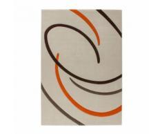Tappeto Onda stile moderno beige 100% fibra sintetica 120x170 cm
