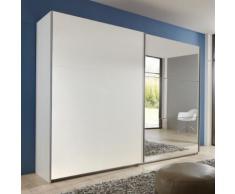 Armadio Nigella AD I in due altezze, in bianco e specchio