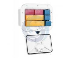 Nuova Rade Cassettiera bianca a scomparti per accessori con serratura