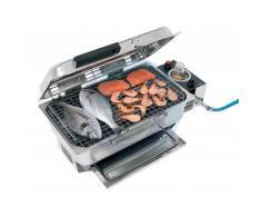 Can Barbecue in acciaio inox lucidato - fissaggio su piano o su tubo