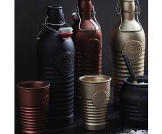 Bormioli Bicchiere Acqua Officina 1825, 4 Pezzi Antracite