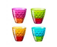 Bormioli Bicchiere Da Acqua Dots Funny, 4 Pezzi