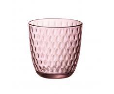 Bormioli Bicchiere Da Acqua Slot Lilac Rose, 6 Pezzi