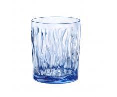 Bormioli Bicchiere Acqua Sapphire Blue Wind, 6 Pezzi