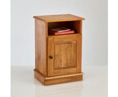 La Redoute - Comodino 1 anta, di pino massello finitura cerata, Authentic Style