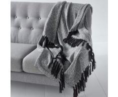 Plaid jacquard in maglia, motivi etnici, Ismir