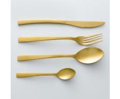 La Redoute - Confezione da 4 cucchiai finitura dorata, AUBERIE