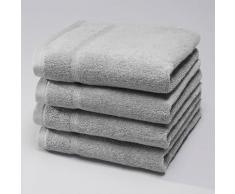 La Redoute - Confezione da 4 di asciugamani ospiti in spugna 600 g/m², Qualità Best