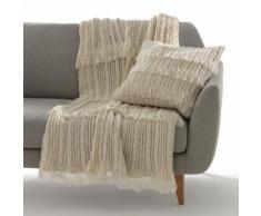 Plaid in maglia con frange, LOPIK