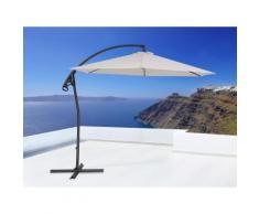 Ombrellone parasole in metallo - Beige - ASTI II