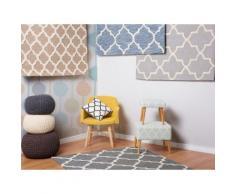 Tappeto in lana e cotone beige - Tappeto moderno di design - 140x200cm - ERBAA