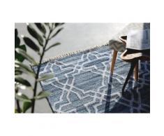 Tappet in cotone blu - Tappeto rettangolare design moderno - 160x230cm - ADIYAMAN