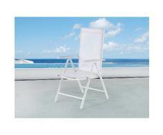 Sedia da giardino in alluminio bianco e tessuto - CATANIA