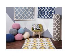 Tappeto rettangolare blu - Tappeto moderno di design - 80x150cm - ZILE