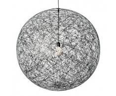 MOOOI lampada a sospensione RANDOM LIGHT LED (Ø 105 cm nero, cavo 10 metri - Fibra di vetro)
