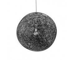 MOOOI lampada a sospensione RANDOM LIGHT LED (Ø 80 cm nero, cavo 10 metri - Fibra di vetro)