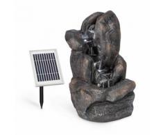 Felsquell Fontana con Cascata a Batteria 2 kW Pannello Solare 3 LED