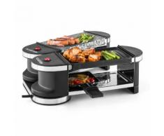 Tenderloin Mini Raclette-Grill 600W base a 360° Piastra Hot Stone