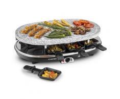 Steaklette Griglia Raclette 1500 W Piastra Granito 8 Persone