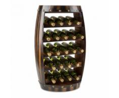 Barrica Armadio per Vino in Legno Botte Portabottiglie 22 Bottiglie Abete Rosso