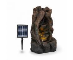 Magic Tree Fontana Solare 2,8 W Poliresina Batteria 5h LED Effetto Legno