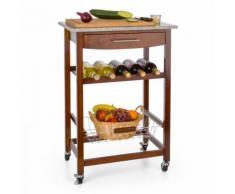 Zimmerservice Carrello da Servizio Cucina Piano in Granito marrone