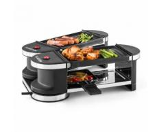 Tenderloin Mini Raclette-Grill 600W Base a 360° 2 Piastre