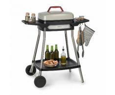 Gatsby grill elettrico 2000W superficie barbecue antiaderente beige/nero