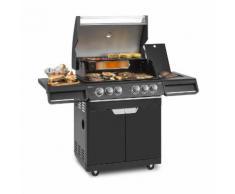Highgrade 4 IB Barbecue a Gas 6 Bruciatori 19,8 kW 71x46cm Barbecue Acciaio Inox