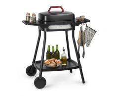Gatsby grill elettrico 2000W superficie barbecue antiaderente tavoli laterali nero